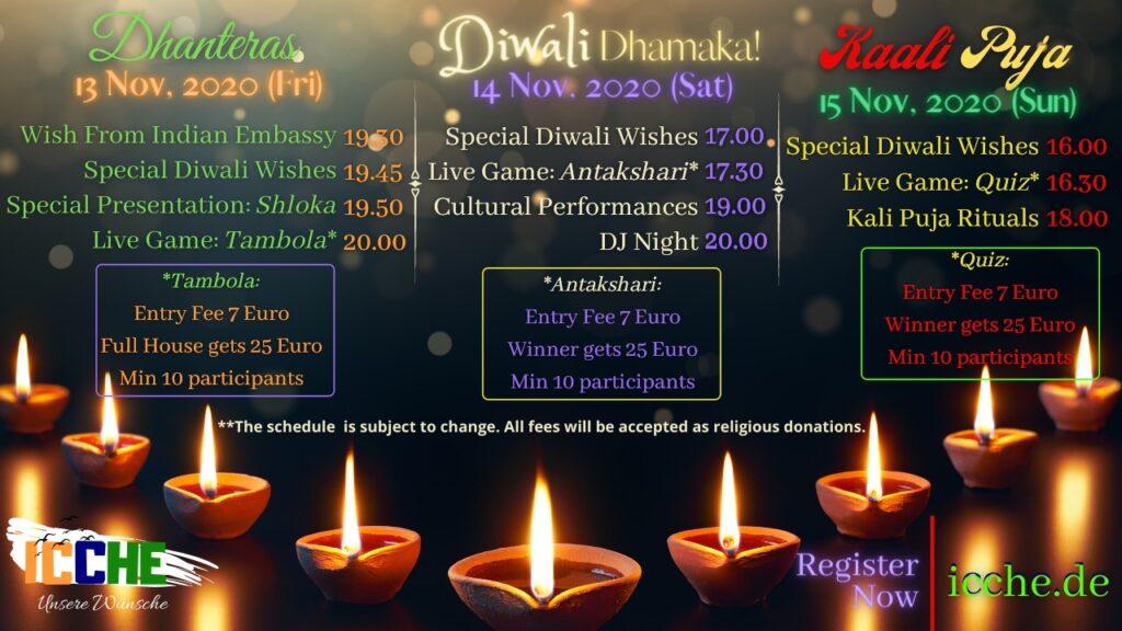 diwali celebration at dusseldorf durgapuja